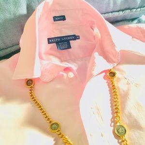 Ralph Lauren Slim Fit Light Pink Button Down Shirt